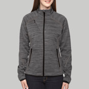 Ladies' Flux Mélange Bonded Fleece Jacket