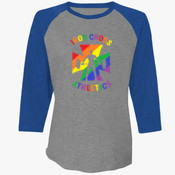 ICA Pride - 6051-Next Level Unisex Tri-Blend 3/4-Sleeve Raglan