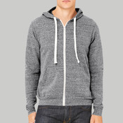 3909-Bella Canvas Tri-blend Sponge Fleece Full-Zip Hoodie