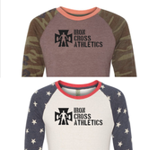 Camo or Stars  - AA2089-Printed Eco-Jersey Baseball T-Shirt
